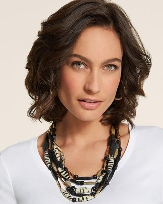 Chico's Margot Multi-Strand Animal Necklace