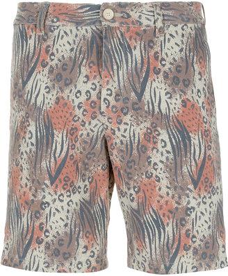 Topman Animal Pattern Printed Shorts