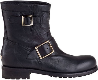 Jimmy Choo Youth Ankle Boot Black Leather