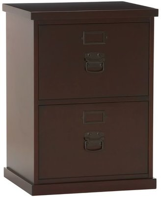 """Pottery Barn Bedford 20.5"""" 2-Drawer File Cabinet, Antique White"""