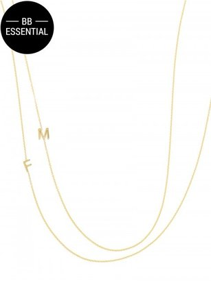 Maya Brenner Asymmetrical Character Necklace $240 thestylecure.com