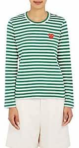 Comme des Garcons Women's Striped Long-Sleeve T-Shirt - Green, White