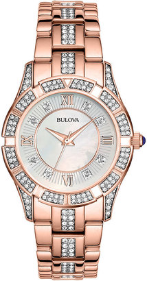 Bulova Womens Rose-Tone Crystal Accent Watch 98L197 $299.25 thestylecure.com