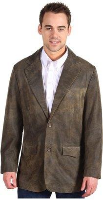 Scully Contemporary Vintage Butter Soft Sheepskin Blazer Regular Sizes (Brown) - Apparel