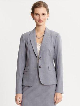 Banana Republic Striped lightweight wool peplum blazer