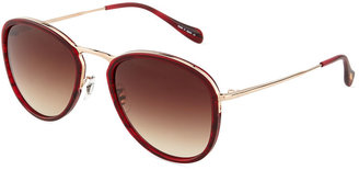Oliver Peoples J Aviator Sunglasses, Spice Brown