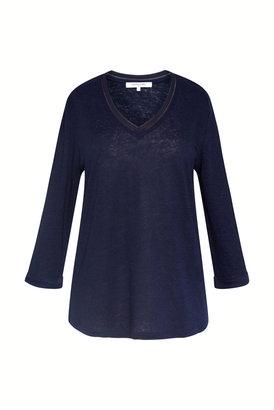 Gerard Darel Jee - Linen V-neck T-shirt