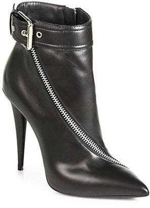 Giuseppe Zanotti Asymmetrical-Zip Leather Ankle Boots