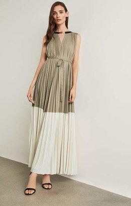 BCBGMAXAZRIA Adelaide Colorblocked Gown