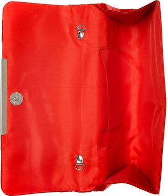 La Regale Handbag, Crisscross Satin Evening Clutch