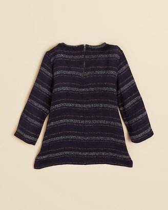 Splendid Girls' Skyline Metallic Stripe Loose Knit Top - Sizes 7-14