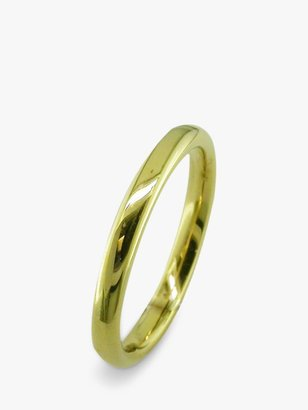 E.W Adams 18ct Yellow Gold 2.5mm Court Wedding Ring, Yellow Gold