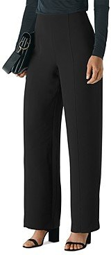 Whistles Wide Leg Crepe Trousers