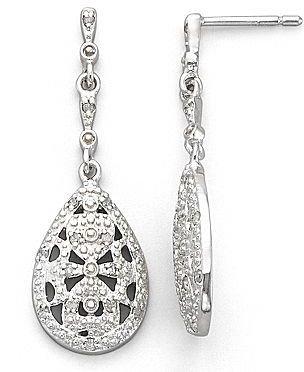 JCPenney 1/4 CT. T.W. Diamond Vintage-Style Sterling Silver Earrings