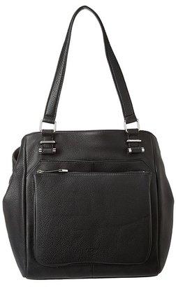 Perlina Handbags - Marla Fold Gusset (Black) - Bags and Luggage