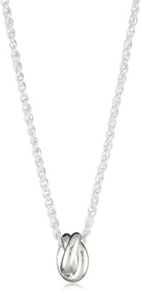 """Zina Sterling Silver """"Contemporary Collection"""" Triple Interlocking Ring Pendant Necklace 17.5"""""""