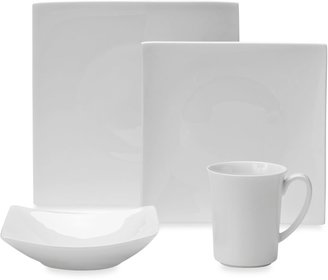 Fitz & Floyd Nevaeh White Hard Square Dinnerware