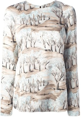 Marni tree print top