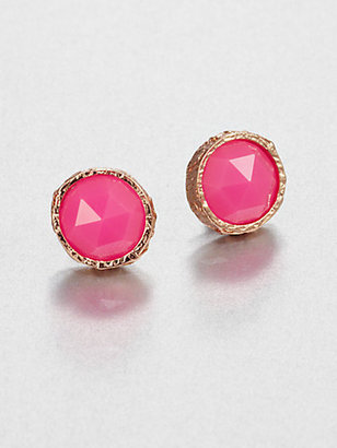 Marc by Marc Jacobs Large Faceted Studs/Pink