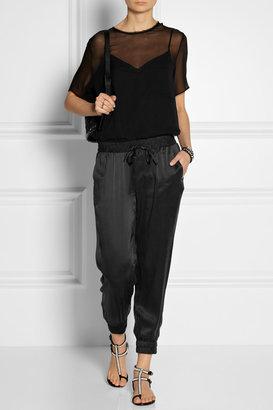 Paige Jayden washed-silk track pants