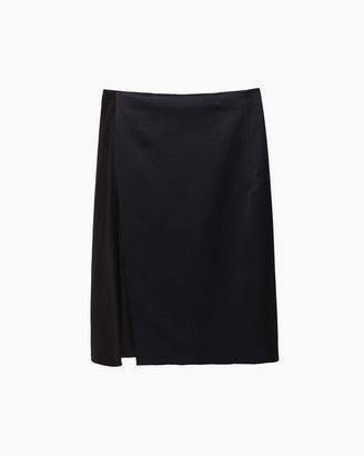 3.1 Phillip Lim Asymmetric Satin Overlay Skirt