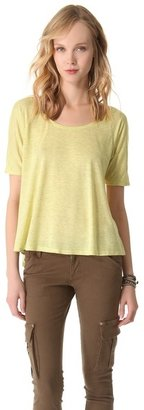 Alice + Olivia Air by Short Sleeve Swing Top