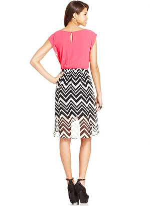 Amy Byer Printed High-Low Dress