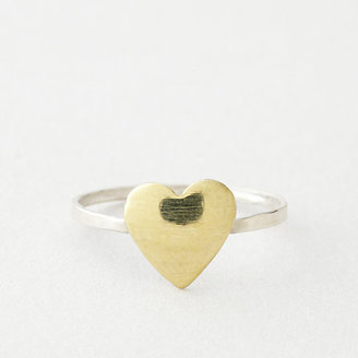 In God We Trust bitty heart ring