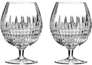 "Waterford Two ""Lismore Diamond"" Brandy Glasses"