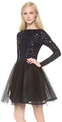 Alice + Olivia Bergen Embellished Ballerina Dress