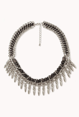 Forever 21 Spike Fringe Necklace