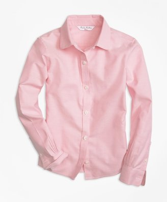 Brooks Brothers Girls Non-Iron Long-Sleeve Oxford