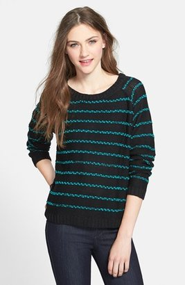Love by Design Textured Stripe Sweater (Juniors)