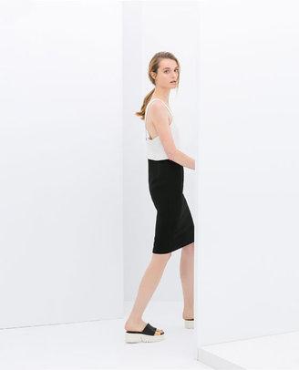 Zara Two-Tone Peplum Dress