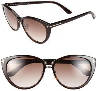Tom Ford 'Gina' 57mm Cat Eye Sunglasses