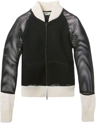 Fendi mesh panel bomber jacket