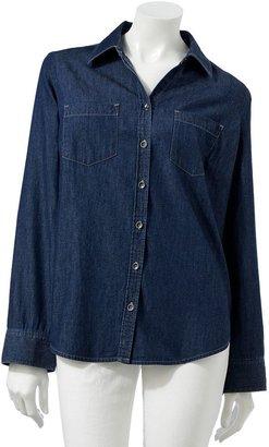 Croft & barrow ® chambray shirt - women's