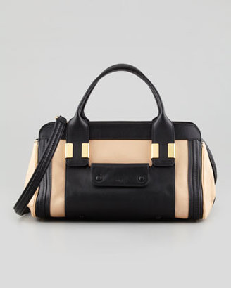 Chloé Alice Small Satchel Bag, Beige