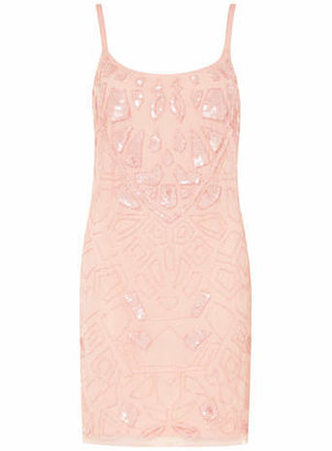 Dorothy Perkins Scarlett B Nude Beaded Cami Dress