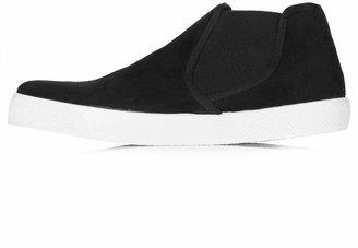 Topshop Bombay black skater boots