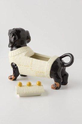 Anthropologie Sweater Pup Cookie Jar
