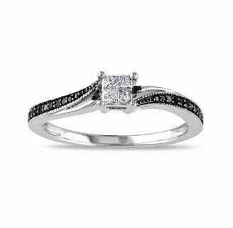 Black Diamond MODERN BRIDE Midnight 1/5 CT. T.W. White & Color-Enhanced 10K White Gold Ring