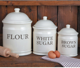 Chefs English Baker's Stoneware Canister Set