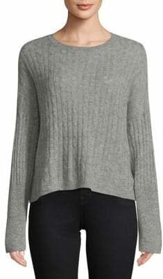 Autumn Cashmere Boxy Cashmere Silk Cropped Sweater