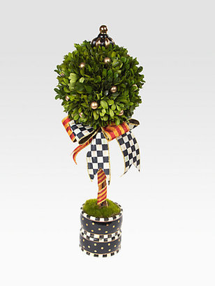 Mackenzie Childs MacKenzie-Childs Courtly Check Boxwood Medium Topiary