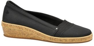Grasshoppers Women's Milana Wedge Loafer,Black,7 M US