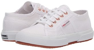 Superga 2750 JCOT Classic (Toddler/Little Kid) (White/Rose) Girls Shoes