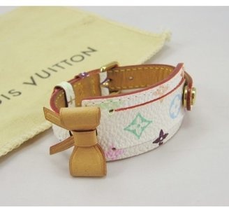 Louis Vuitton very good (VG White Monogram Multicolore Porte-Adresse Bracelet