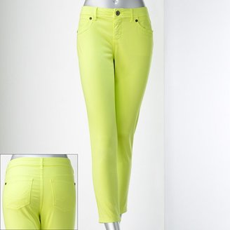 Vera Wang Simply vera color skinny ankle jeans