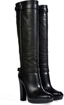 Belstaff Leather Gainsborough Tall Boots in Black